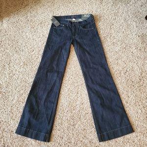 Armani Exchange Womens J60 Wide Leg Low Rise Jeans